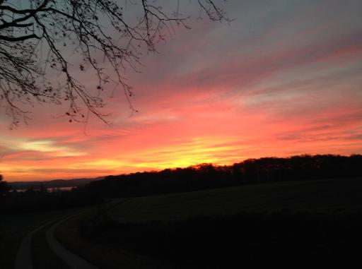 Sonnenuntergang in der Natur.